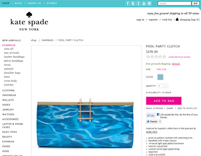 Clutch im Pool-Design