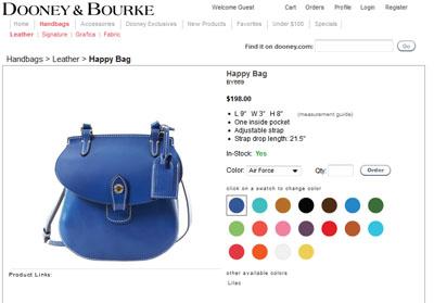 Handtasche in bunten Farben