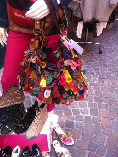 Tasche aus Lederläppchen