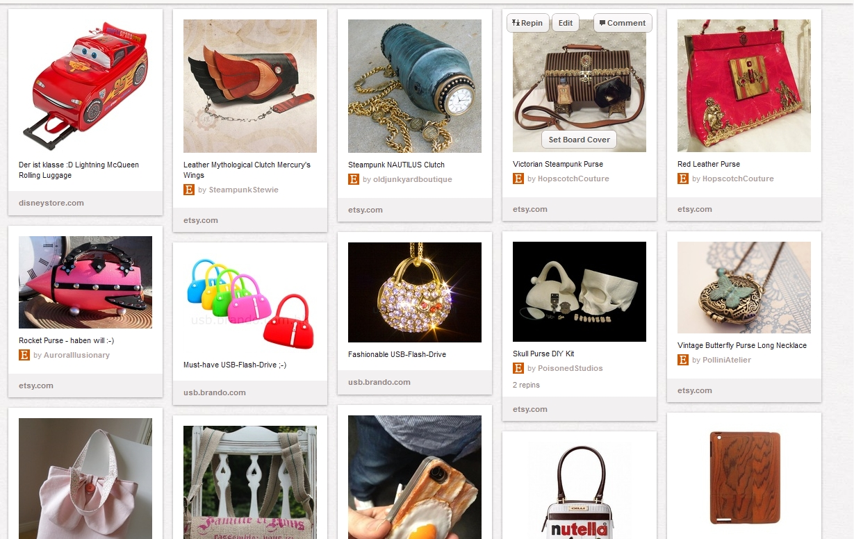 Bags-Board bei Pinterest
