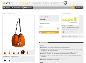 orangener Strickbeutel