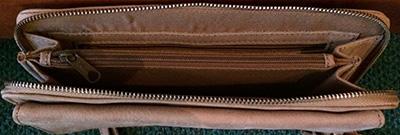 Cowboysbag, Innenansicht