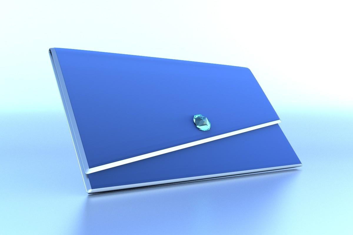 Blaue Clutch