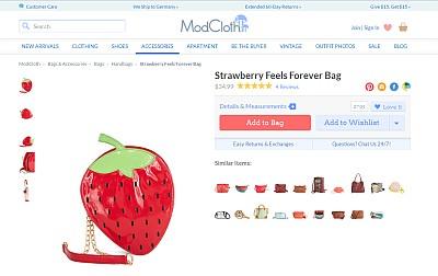 Erdbeertäschchen