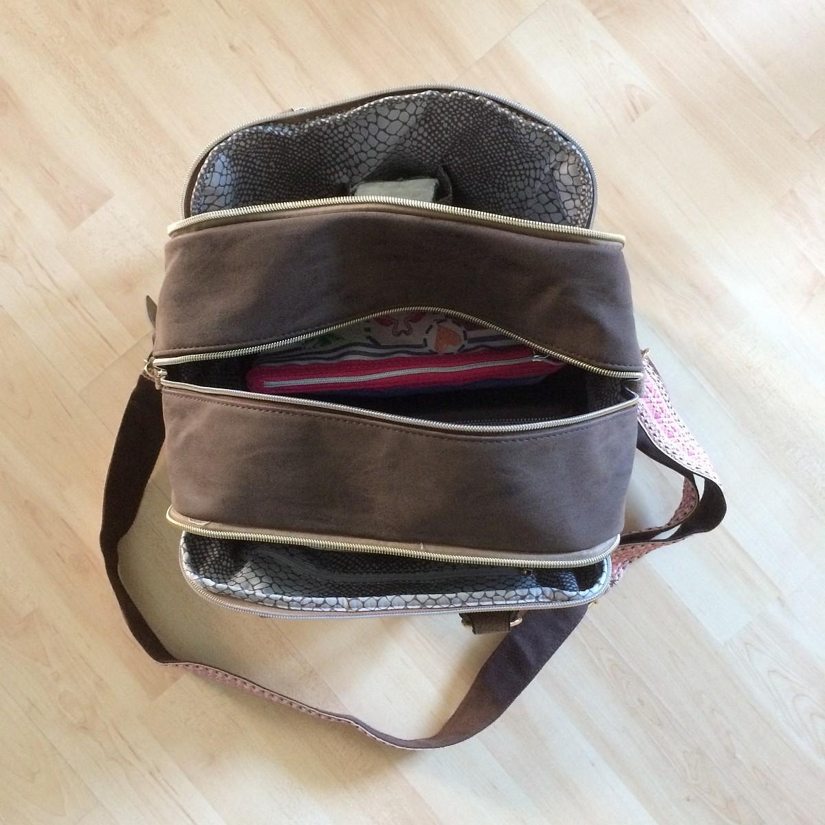 Bowling Bag in braun