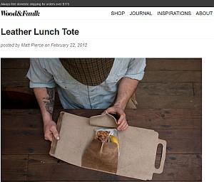 Lunchbag aus Leder