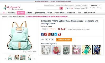 Rucksack oder Handtasche
