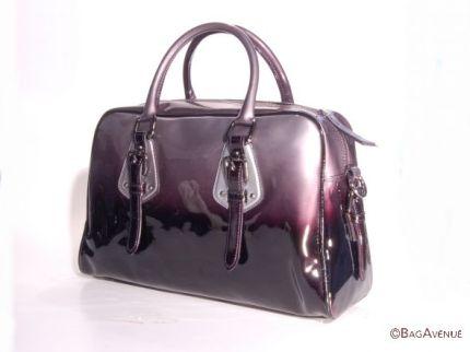 schwarzgraue Lackledertasche von Bag Avenue