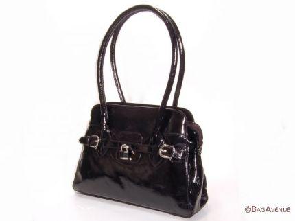 schwarze Lackledertasche von Bag Avenue