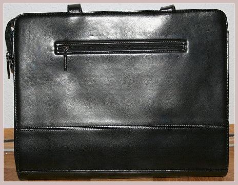 Schwarze Businesstasche, Rückansicht