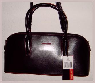 schwarze Damenhandtasche von Pierre Cardin