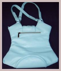 Korsagen-Handtasche, Rückansicht