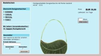 Screenshot der Blättertasche