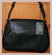 schwarze Damenhandtasche von Giorgio Sorrentino, Rückansicht