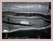 schwarze Damenhandtasche von Giorgio Sorrentino, Innenansicht