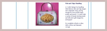 Fish and Chips Handtasche