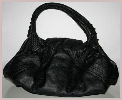 schwarze Spy Bag, Rückansicht