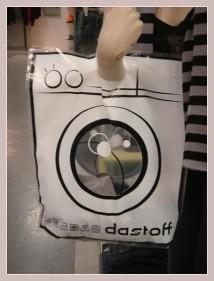 Einkaufstüte mit Werbung für einen belgischen Trendshop