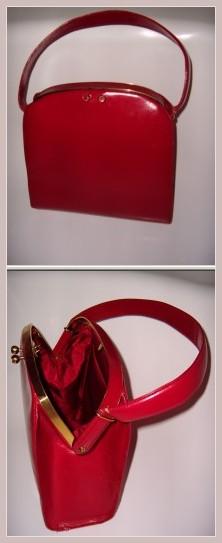 rote Vintage-Tasche, bei ebay ersteigert