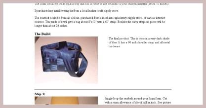 geflochtene Sicherheitsgurttasche