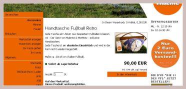 Screenshot der Fussballtasche