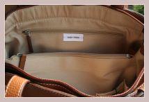 Handtasche im Herbstlook, Detail Innenansicht