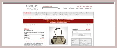 Screenshot der Handtasche