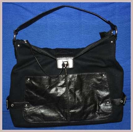 schwarze Handtasche von Sisley, Vorderansicht