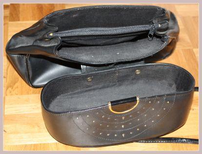 schwarze Handtasche, Innenansicht