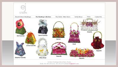 Screenshot der Blumentaschen