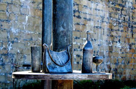 Stilleben mit Handtasche