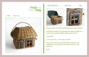 Haus-Korb-Tasche