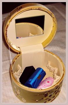 Kosmetikbox, Innenansicht