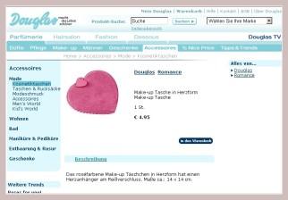 Screenshot der Kosmetiktasche in Herzform