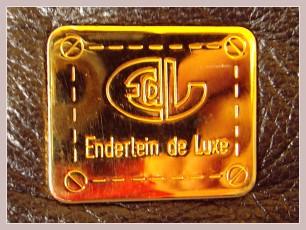 Kosmetiktasche Enderlein de Luxe, Label