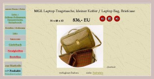 Screenshot der Laptoptasche