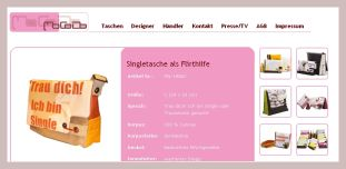 Screenshot der Singletasche