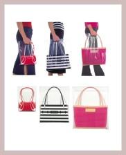 Plastiktaschen, die sich als Damenhandtaschen ausgeben