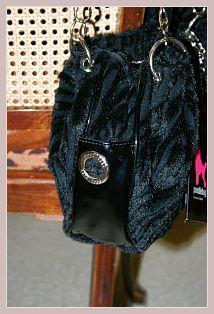 Poodlebag Funkyline Fur - Friday, schwarz, Seitenansicht