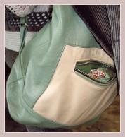 grün-beiger Rucksack
