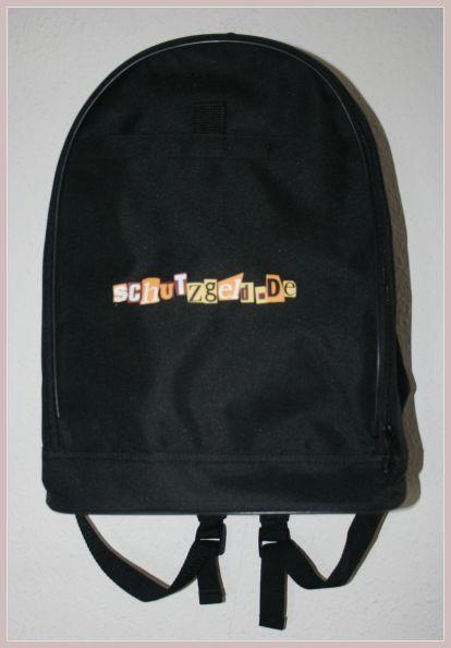 schwarzer Rucksack, Vorderansicht