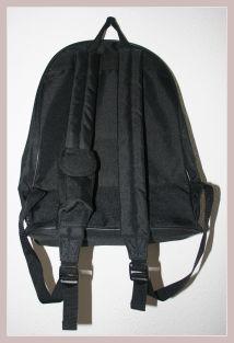 schwarzer Rucksack, Rückansicht
