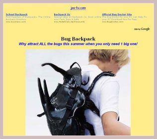 Screenshot des Rucksacks
