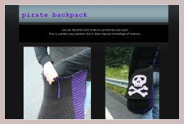 Screenshot des Rucksackes