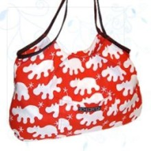rote Tasche mit Hippos