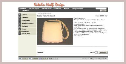 Screenshot der Filztasche