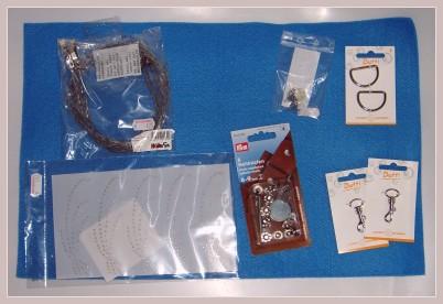 Einzelteile der zu nähenden Filztasche