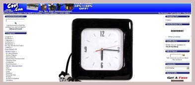 Screenshot der Tasche mit Uhr