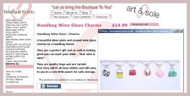 Weinglascharmer in Taschenform