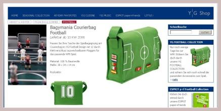 Fussballtasche der Serie Bagymania von Young Generation
